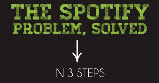 spotify solucion del problema en 3 pasos