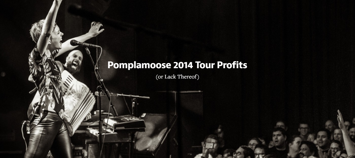 Pomplamoose tour lost 11.000
