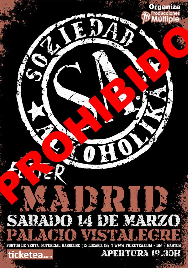 soziedad alkoholika cancelado madrid