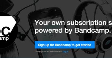 bandcamp, servicio de suscripcion