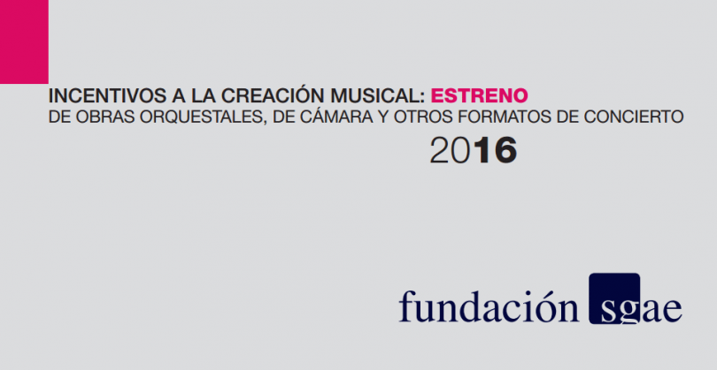 incentivos a la creacion musical fundacion sgae 2016