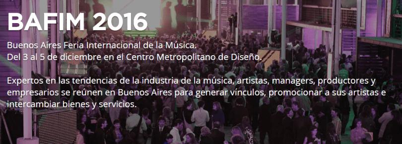 BAFIM 2016. La feria internacional de música de Buenos Aires