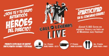 "Concurso de bandas ""Call for Legends Live"" de Shure"