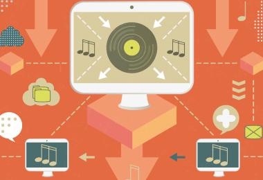 Infografía   Tabla comparativa de distribución digital de música