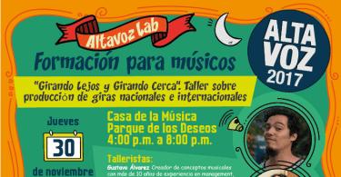 Workshops Para Músicos en Medellín, Colombia: AltavozLab