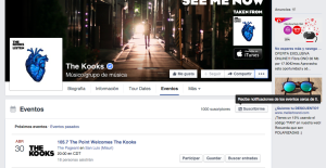 Evento suscripción Facebook - The Kooks