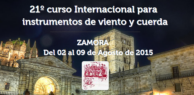 21º curso Internacional para instrumentos de viento y cuerda zamora