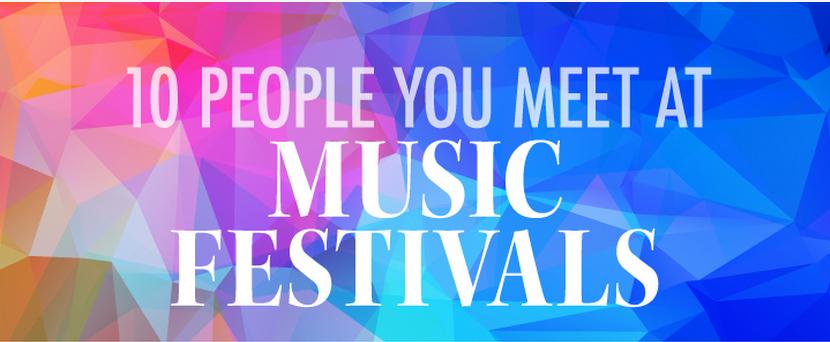 infografia. 10 tipos de personas en festivales