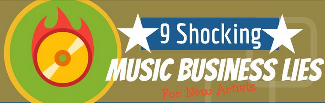 infografia 9 mentiras sobre el negocio de la musica