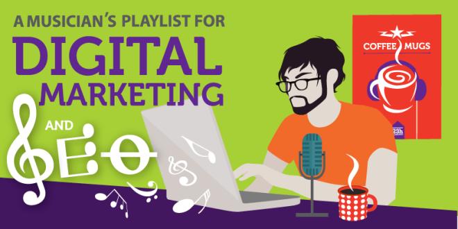 infografia marketing digital y seo para musicos y artistas y bandas