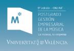 5 ed postgrado en gestion empresarial de la musica uv