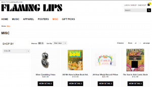 merchandising flamming lips