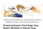informe, efecto del streaming en los ingresos por venta de musica