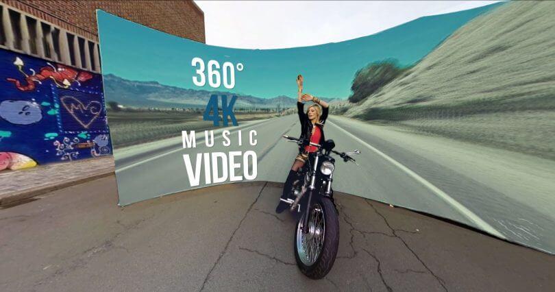 Videos musicales 360. Disfruta en todas direcciones