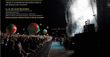 """Información curso """"Producción de Eventos Musicales"""" - Universidad de Valencia"""