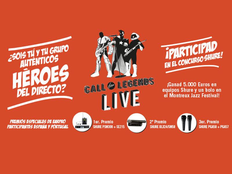 """Concurso de bandas """"Call for Legends Live"""" de Shure"""