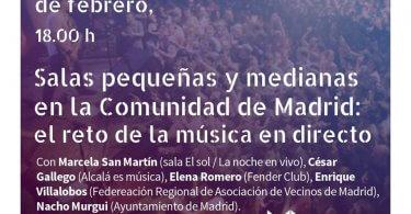Encuentro: Salas pequeñas y medianas en la Comunidad de Madrid: el reto de la música en directo