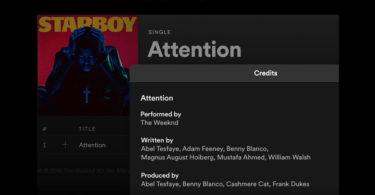 Spotify Mostrará los Créditos de Compositores y Productores