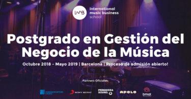 IMB School, postgrado gestion del negocio de la música