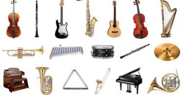 nombres de instrumentos musicales