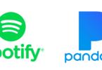 Spotify-Pandora-logos