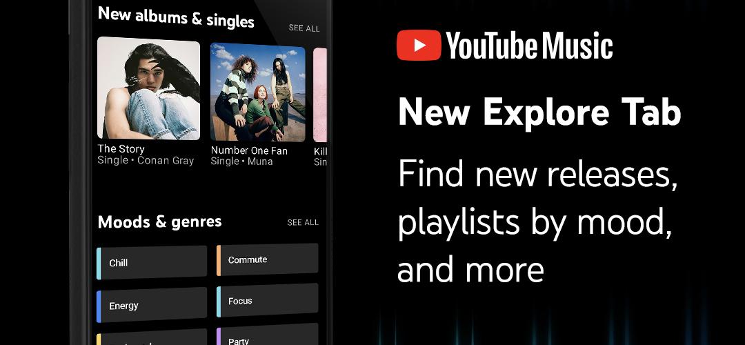 pestaña explorar youtube music