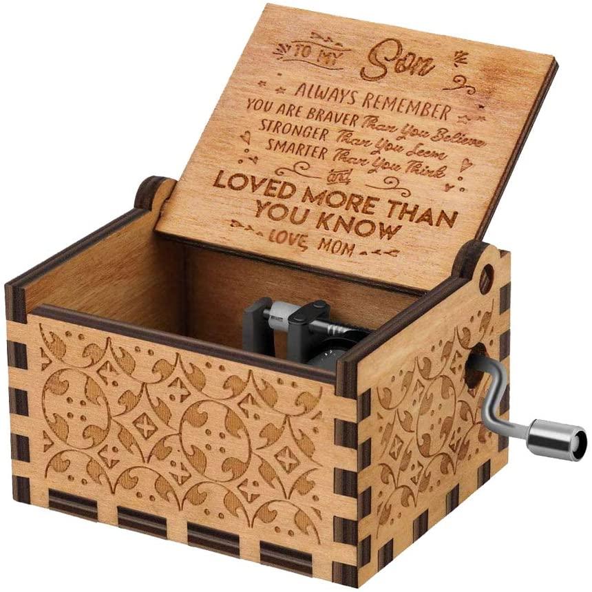 cajas de musica madera
