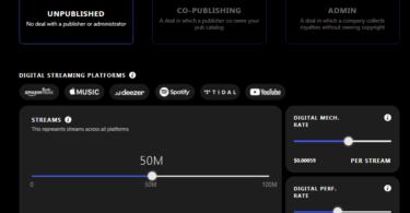 publishing simulator, simulador de regalias editoriales de musica